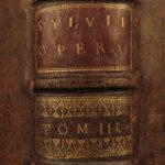 1697 1ed Sylvius Commentary on AQUINAS SUMMA Catholic Theology HUGE FOLIO