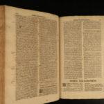 1698 1ed Francis Sylvius Catholic Theology HUGE FOLIO Aquinas Philosophy