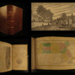 1840 History of Massachusetts Geography MAP Salem Plymouth Colonial Americana