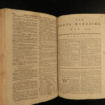1765 1ed Colonial America Native American INDIANS Croghan Mohawk Scots Magazine