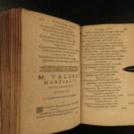 1622 1ed MARTIAL Epigrams Roman Poetry Natural History Xenia Apophoreta Douay
