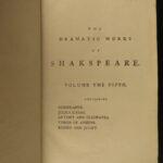 1786 Shakespeare Plays Macbeth Taming of Shrew Romeo & Juliet 6v SET 1ed Rann