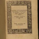 1517 1ed Maximus Tyre Greek Platonism Philosophy Existence God Plato Incunable