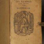 1572 RARE New Testament BIBLE Vulgate Latin 100+ Woodcut Engravings Apocalypse