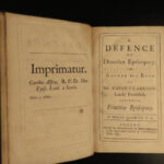 1691 1ed Maurice Diocesan Episcopacy Anglican Bishops Great Ejection Act 1662