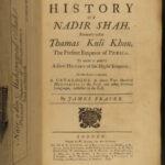 1742 ENGLISH 1ed Nader Shah History Kouli-Kan IRAN Persia INDIA Fraser Mogul MAP