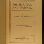 1922 F Scott Fitzgerald 1st ed The Beautiful & Damned Jazz Age America CLASSIC