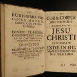 1741 1ed Thomas AQUINAS Philosophy & Commentary by Placido Renz Latin 6v SET