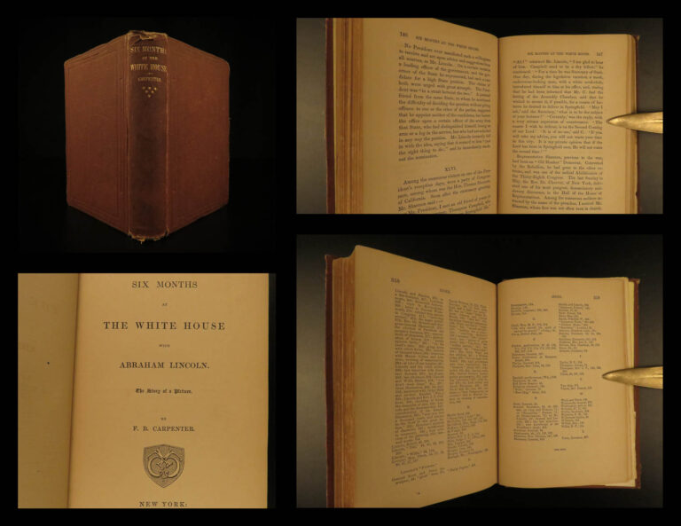 Image of 1866 1st ed Abraham Lincoln Six Months at White House Emancipation Slavery