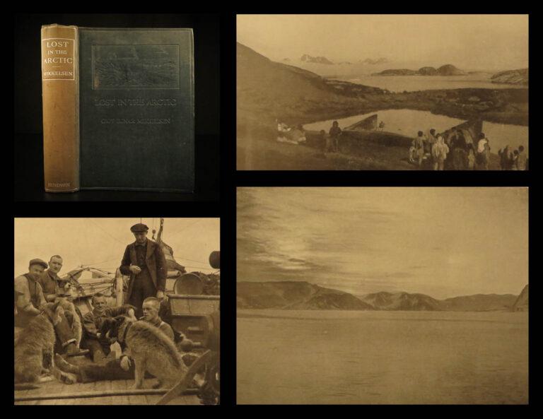 Image of 1913 1ed Lost in ARCTIC Ejnar Mikkelsen Greenland Voyages MAP Denmark Alabama