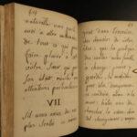 1781 BEAUTIFUL Handwritten Manuscript dedicated to a Mademoiselle Dutellin BIBLE