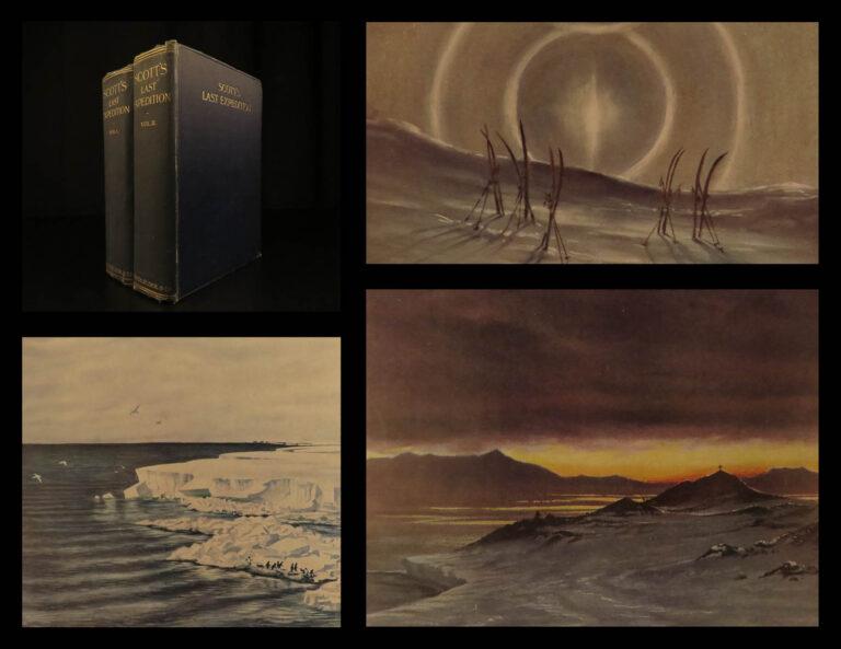Image of 1913 1ed Scott Terra Nova Arctic Expedition ANTARCTICA Voyages Illustrated 2v