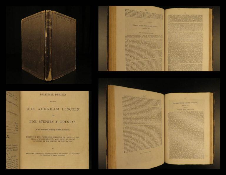 Image of 1860 DEBATES 1st ed Abraham Lincoln Douglas American Politics SLAVERY Abolition
