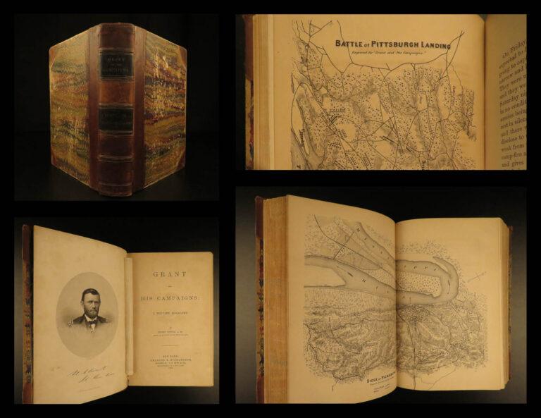 Image of 1866 1st ed US Grant Civil War Campaigns Vicksburg American Politics Illustrated