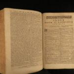 1649 LAW Justinian Code Codex Fabrianus Savoy Court ROME Latin Favre FOLIO