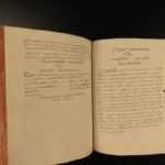 1737 Handwritten Latin on MANUSCRIPT Philosophy Metaphysics Esoteric Theology