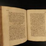 1773 LAW Handwritten Manuscript Excommunications Violent Crimes Cambursanus RARE
