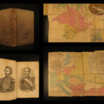 1856 1ed Sebastopol Russian War CRIMEA Color MAP RUSSIA Battle Military Russell