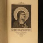 1880 Saint Elizabeth of Hungary MIRACLES Catholic Montalembert Fine Binding