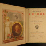 1880 Christopher Columbus by Lorgues Fine Binding Miracles Voyages Indians