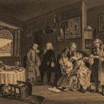 1880 William Hogarth ART English Political Satire Hudibras Rakes Progress Hannay
