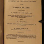 1840 US Constitution LAW Commentary Joseph Story pre Civil War FAMOUS Americana