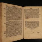 1588 1ed Itinerarium Sacrae Bunting BIBLE Geography Holy Land MAP Swedish