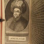 1689 Ottoman TURKS Sultans Mohamet I Suleiman I Portraits 4v SET Vanel Turkey