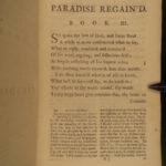 1766 John Milton Paradise Regained Poetry Illustrated Allegory Paradise Lost