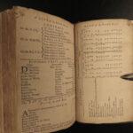 1744 1ed Rider's British Merlin Astrology Almanac Weather Zodiac Astronomy Magic