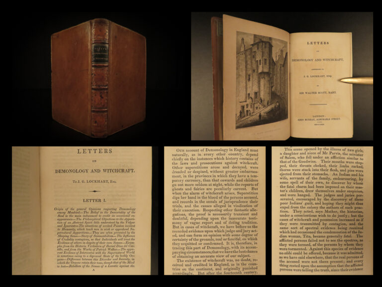 Image of 1830 1ed Demonology & Witchcraft WITCHES Fairies Magic Evil Walter Scott Letters
