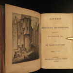 1830 1ed Demonology & Witchcraft WITCHES Fairies Magic Evil Walter Scott Letters