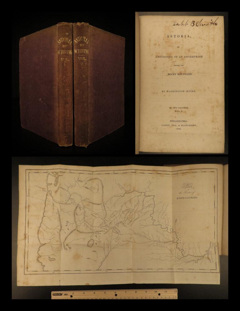 Image of 1836 OREGON 1st/1st Astoria by Washington Irving INDIANS Fur Trade Gold MAP