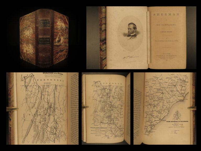 Image of 1865 Sherman Campaigns 1ed Civil War Memoir Tactics Army Illustrated MAPS Bowman