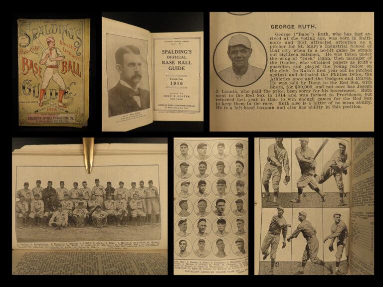 Image of 1916 1ed Spalding Baseball Guide BABE RUTH Cobb Hornsby Mathewson Honus Wagner