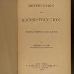 1879 1ed Confederate General Taylor Civil War Reconstruction Stonewall Jackson