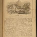 1866 HUGE BIBLE Civil War English Holy Land MAP Ingram Cobbin King James KJV