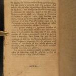 1812 1st ed George Washington Benevolent Society Farewell Address CONSTITUTION