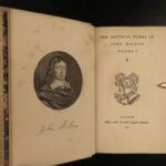 1866 John Milton Paradise Lost EXQUISITE BINDING Sonnets Psalms English Poems