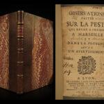 1721 1ed Bubonic PLAGUE of Marseille Black Death Pandemic Psychology Medicine