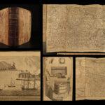 1761 1ed Egyptian Mummies St Malo Raid Atlas MAPS Beer Brewing Ceylon Sri Lanka