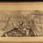 1857 1st ed David Livingstone Missionary Travels Illustrated AFRICA Map Angola