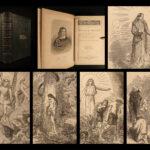 1868 EXQUISITE Leather John Milton Paradise Lost Sonnets Psalms English Poems