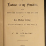 1893 Baptist Charles Spurgeon Lectures to Students Puritan Second Series