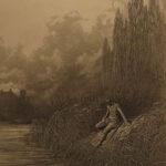 1867 1ed Tennyson Elaine King Arthur Lancelot Guinevere Idylls of King DORE Art