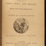 1884 1ed Robin Hood Legendary English Folklore Lytell Geste Illustrated Ballads