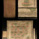 1839 HUGE Colton MAP of OHIO David Burr Geography Atlas Cincinnati 19x22in