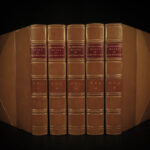 1889 Macaulay Works Historical Essays Milton Machiavelli English History 5v