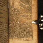 1829 Mirror of Souls Good v Evil Illustrated BIZARRE Occult Devils Demons ART
