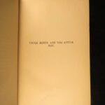 1892 1ed Uncle Remus Friends Joel Harris Slavery Song of South Illustrated Frost